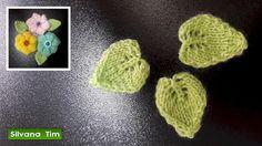 Silvana Tim - Tejido con dos Agujas, Crochet, Recetas de Cocina: Cómo tejer HOJAS con dos agujas # 492