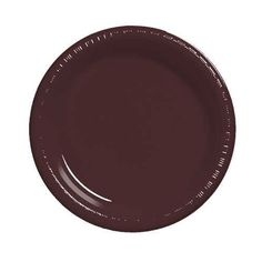 7 inch Plastic Lunch Plate Chocolate Brown/Case of 240