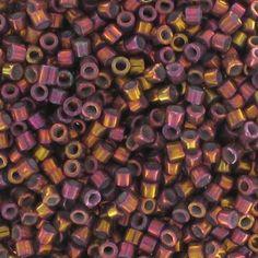 Miyuki Delicas 11/0 DB1013 - Metallic Tea Berry Gold Iris