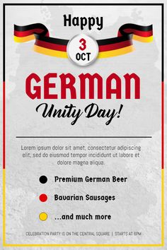 German day of unity buffet event poster flyer template german day german day of unity event invitation flyerposter template stopboris Images