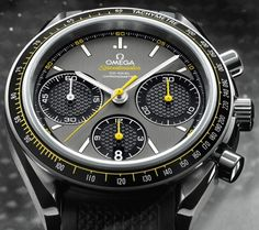 Diamond Watches Collection : Omega Speedmaster Racing - Watches Topia - Watches: Best Lists, Trends & the Latest Styles Big Watches, Dream Watches, Sport Watches, Luxury Watches, Cool Watches, Watches For Men, Black Watches, Omega Speedmaster Racing, Omega Railmaster