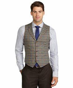 Tattersall Vest Light Grey