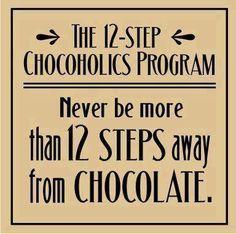 Never ever! .. The 12-Step Chocoholics Program