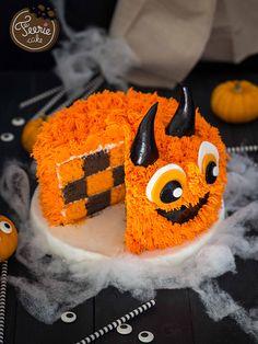 gâteau damier monster Cake pour Halloween !