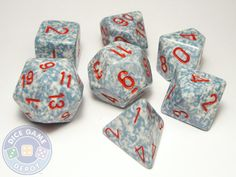 7-Piece Polyhedral Dice Set - Elemental Air