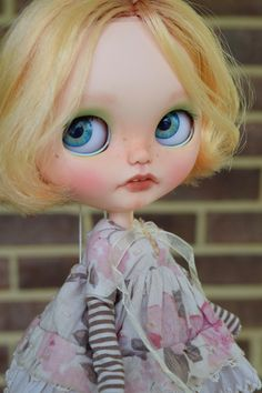 OOAK Custom Blythe Doll Face Up and Customized  by ChassyKnitLove