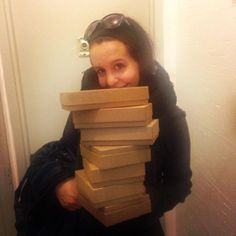 Our intern Julia was the target of an intervention today. 7 old boxes bit the dust. Tell us: what's your number?