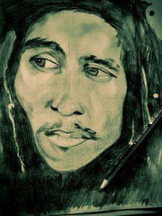 Retrato con grafito Bob Marley