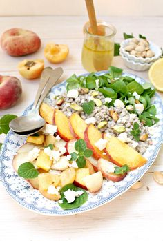 Stone Fruit Barley Salad with Sparkly Vinaigrette