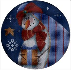 click here to view larger image of Snowman Magi 3 Ornament (hand painted canvases)