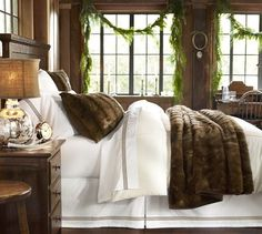 Warm and cozy while still bright and clean Faux Fur Blanket & Sham | Pottery Barn