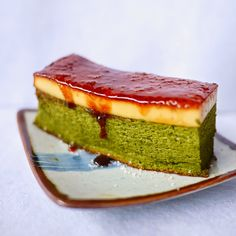 yellowfingers: {Recipe} Creme Brulee Green Tea Chiffon Cake