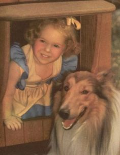 Collie and little girl.... How cute!