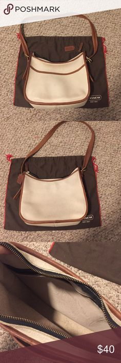 Vintage coach Vintage leather coach in good condition. Authentic. Comes with dust bag. Soft leather. 10x12x4 Coach Bags Shoulder Bags