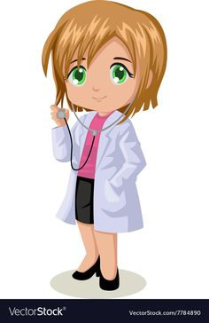 Cute cartoon illustration of a female doctor , Cartoon Pics, Cartoon Drawings, Easy Drawings, Cute Cartoon, Bone Comic, Free Vector Images, Vector Free, Drawings Of Black Girls, Medical Wallpaper