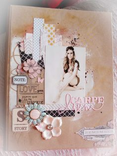 Scrapbook Pages, Scrapbooking, Love, A4, Floral, Girls, Stencils, Cards, Amor