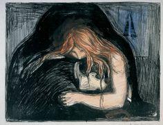Edvard Munch - Vampire I (1895)