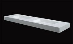 B Dutch design wastafels van wit Solid Surface. Top kwaliteit af fabriek!