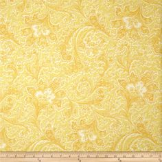 "108"" Wide Quilt Back Rosemont Malabar Butter from @fabricdotcom  Designed by Michele D'Amore for Benartex, this fabric is perfect for quilting, apparel and home décor accents. Colors include yellow and white."