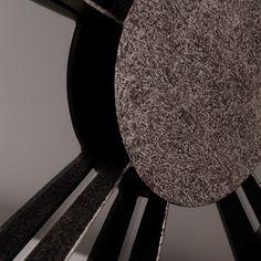 Metal üzeri gümüş patineli füme renk dekoratif ayna