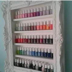 Nail polish organizer(Diy Furniture Simple)