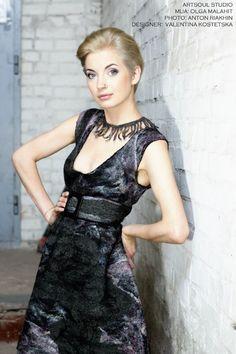 """Dress """"Black Marble"""" Designer: Valentina Kostetska kostetska.com"""