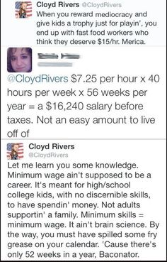 It's pretty bad when the Cloyd Rivers Twitter account makes more economical sense than most of our political discussions.