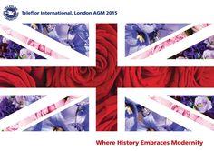 Front cover design for Teleflor International AGM held in London 2015