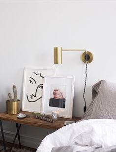 Love this bedroom wall art | follow @shophesby for more gypset boho modern lifestyle + interior inspiration www.shophesby.com