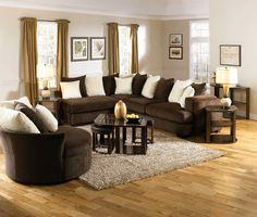 Jackson Axis Small Sectional Sofa Set - Chocolate