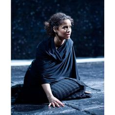 Gugu Mbatha-Raw is Jude Law's Ophelia in Hamlet via Polyvore
