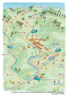 Mapa Ilustrado de São Francisco Xavier SP