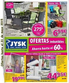 Catalogo de oferta JYSK Mayo 2015