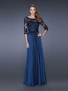 A-line Princess Scoop Floor-length Chiffon Lace Dress. Chiffon Evening  DressesProm ... 8ca7a10eae6f