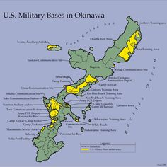 U.S. military bases in Okinawa. I don't know the date of this, but it looks like Camp Chenin is gone. We lived in Awase, but the insallation there was tiny, we never really saw it.
