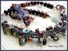 images of viking knit jewelry Modern Jewelry, Jewelry Art, Jewelry Bracelets, Jewellery, Jewelry Ideas, Maille Viking, Viking Knit Jewelry, Friend Jewelry, Vikings