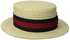 43f521b0 Amazing offer on Scala Men's Dress Straw 1 Piece Laichow Braid Boater Hat  online - Topbrandsclothing