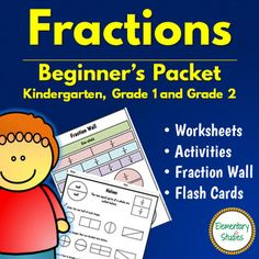 The focus of this fractions beginner's packet is to introduce fractions to the young learners using the visual and conceptual approach. An easy and fun way to learn the basics of fractions using multiple fraction worksheets, fraction activities and fraction flash cards.The contents of this fraction packet includes:1.