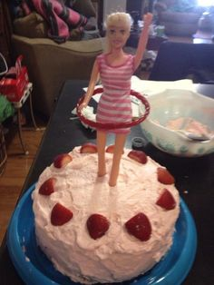 Erica's Hula Hooping Barbie birthday cake. - Take note friends, Krista so wants one of these for her next birthday!