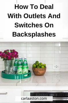 I'm sharing some good practices to go by when dealing with outlets and light switches on your kitchen backsplashes today. These are the guidelines I use when I design a kitchen and I'm kind of excited to lay it all out here in this post. Kitchen Items, New Kitchen, Black Kitchen Island, Rustic Kitchen Design, Kitchen Designs, Cool Kitchens, Tuscan Kitchens, White Kitchens, Luxury Kitchens