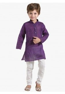 Purple Kurta Set 14%