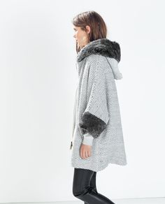ZARA - WOMAN - FAUX FUR JACKET WITH HOOD