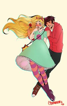 """errorhigh: """"I definitely had fun finishing up this commission for whose gotten a few commissions from me before, and continue to be an amazing person. ( Absolutely check them. Hot Couples, Starco, Star Butterfly, Star Vs The Forces Of Evil, Force Of Evil, Kawaii, Animation, Fan Art, Cartoon"""