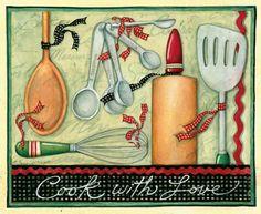 Susan Winget cook with love kitchen / cocina
