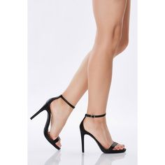 Sugar Love Ankle Strap Pumps ($20) ❤ liked on Polyvore featuring shoes, pumps, black, black shoes, vegan footwear, ankle tie shoes, sexy pumps and ankle strap shoes