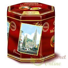 Praline Mozart, Cutie Nostalgie, 30 bile, 500g 30th, Decorative Boxes, Container, Tin, Food, Gourmet, Nostalgia, Tin Metal, Meal