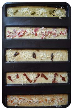 5 new flavors of aperitif cakes (Demarle) mold 5 long cakes - COOK PARADISE - -You can find Paradise and more on ou. Tupperware, Picky Eaters Kids, New Flavour, Yummy Appetizers, Healthy Breakfast Recipes, Yummy Cakes, Street Food, Tapas, Finger Foods