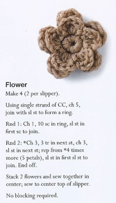 Crochet flower pattern by Margaret hubert #crochetflower #pattern