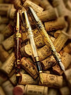 corks and pens