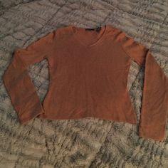 VS Cognac cashmere sweater Soft and lightweight cashmere/silk blend sweater. Moda International Sweaters